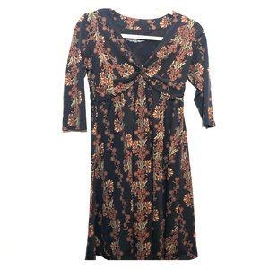 Patagonia organic cotton/tencell dress 3/4 sleeve